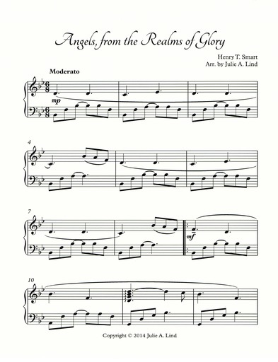 download and print angels from the realms of glory free sheet music - Free Christmas Sheet Music