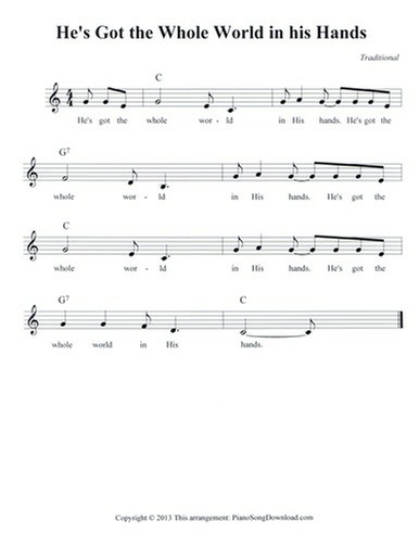 He's Got the Whole World in his Hands: Free Lead Sheet with melody