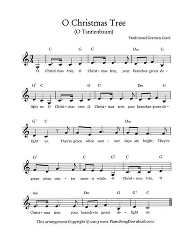 O Christmas Tree, O Tannenbaum: free Christmas lead sheet ...