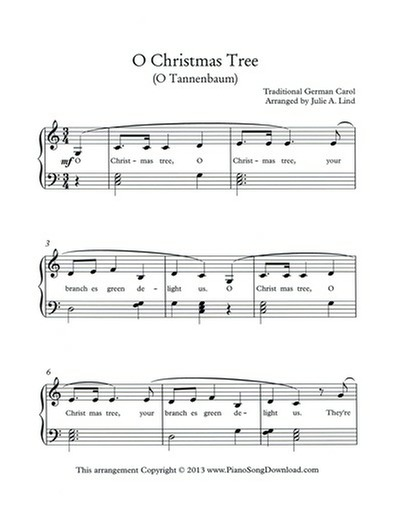 O Christmas Tree Free Piano Sheet Music