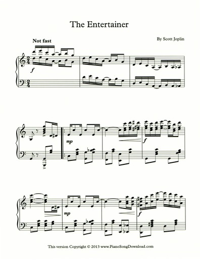 The Entertainer: Free Sheet Music