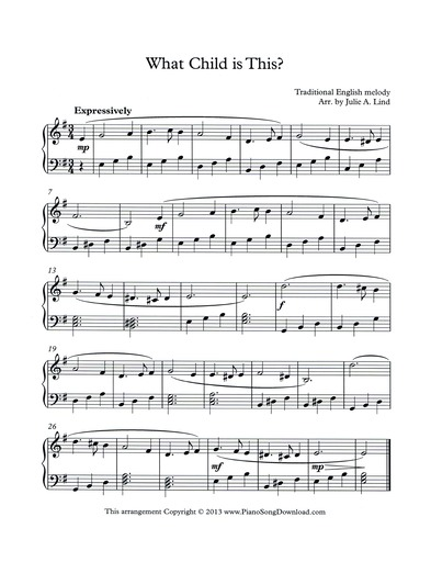 photograph relating to Free Printable Christmas Sheet Music for Piano called What Youngster is This? totally free intermediate Piano Xmas Sheet