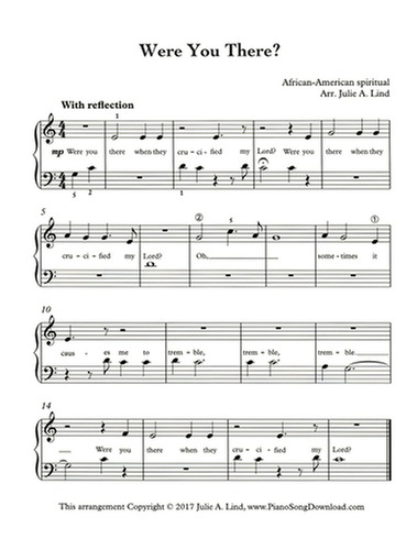 photograph regarding Printable Hymns Sheet Music called Ended up On your own There? Totally free straightforward Lent hymn agreement for piano