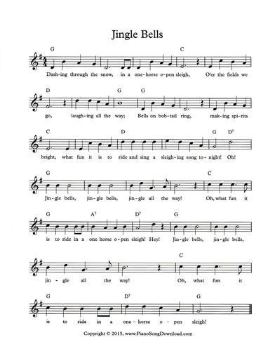 photograph about Jingle Bells Lyrics Printable called Jingle Bells: totally free Xmas contribute sheet with melody, chords