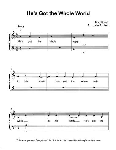 Holy Holy Holy, free easy hymn arrangement with lyrics