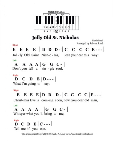 jolly old st nicholas free pre staff christmas piano  i wanna go home chords and lyrics
