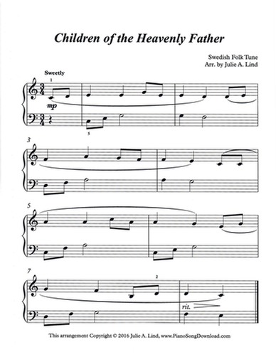 Children Of The Heavenly Father Free Level 2 Hymn Sheet Music