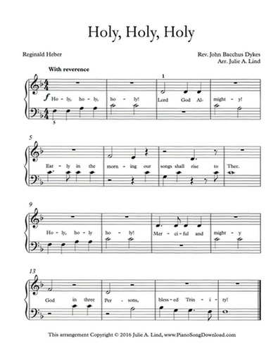 picture relating to Printable Hymns called Holy Holy Holy, absolutely free straightforward hymn piano settlement with lyrics