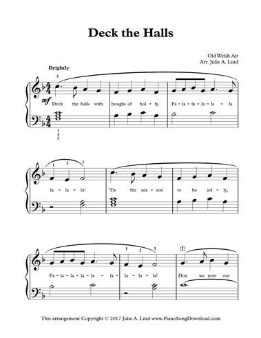 Deck the Halls: Free Level 2 Christmas Piano Music
