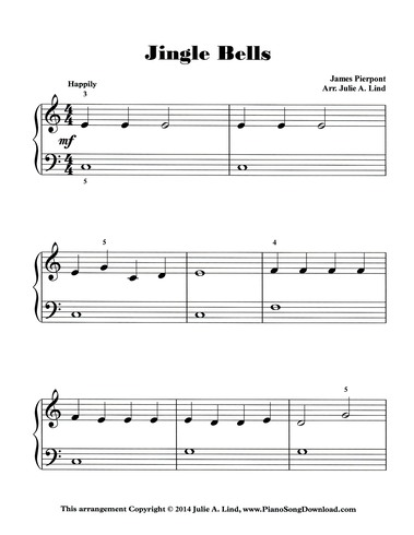 photograph about Free Printable Christmas Sheet Music for Piano known as Jingle Bells: Totally free Stage 1 Xmas Piano sheet songs